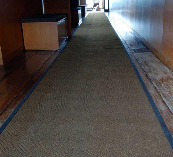 entrance mat at hotel corridor
